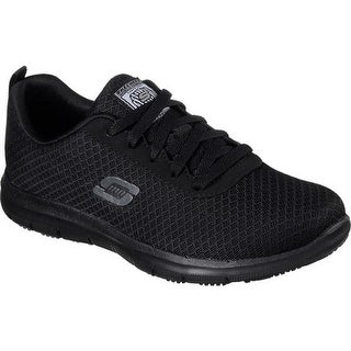 Skechers Women's Work Relaxed Fit Ghenter Bronaugh SR Sneaker Black
