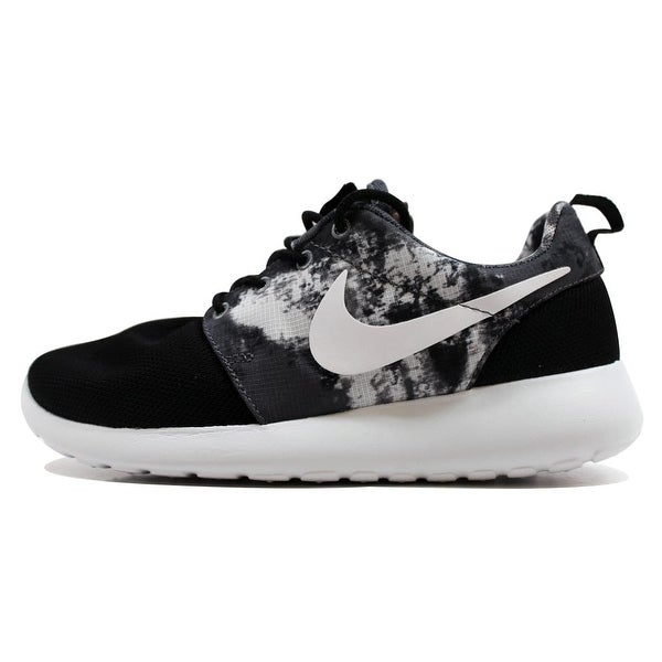 Nike Women's Rosherun Print Black/White-Cool Grey 599432-010 Size 12