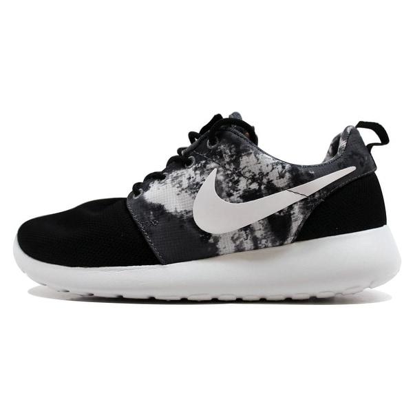17a3e0615d24 Shop Nike Women s Rosherun Print Black White-Cool Grey 599432-010 ...