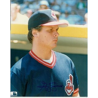 Signed Swindell Greg Cleveland Indians 8x10 Photo Dark Signature autographed