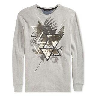 Sean John Long Sleeve Graphic Crewneck Thermal T-Shirt Grey X-Large
