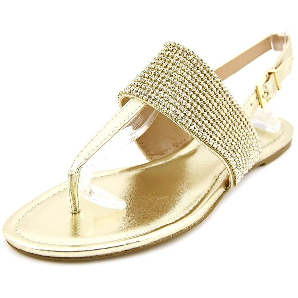 BCBGeneration Wander Women  Open-Toe Synthetic Gold Slingback Sandal