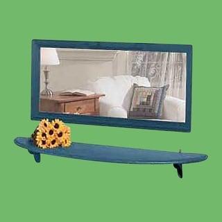 Mirror Shelf Country Blue Pine 43 3/4 W