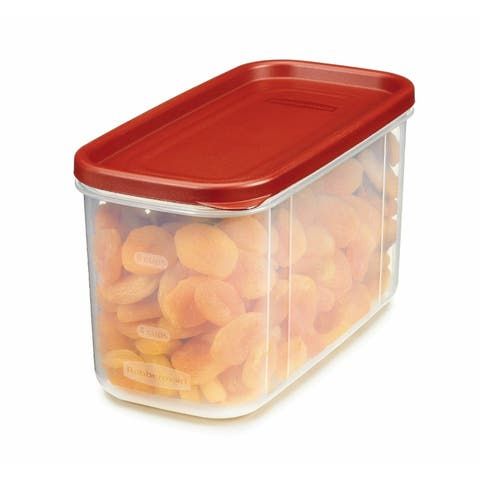Rubbermaid 1776471 Modular Dry Food Container, Clear/Racer Red, 10-Cup