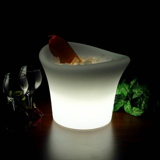 Sunnydaze LED Ice Bucket - Color Changing - Charger and Remote Control - 10-Inch