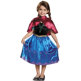 Disguise Anna Traveling Classic Toddler Costume - Blue/Pink