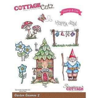 Cottagecutz Stamp & Die Set-Garden Gnomes 2