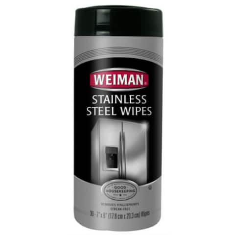 Weiman 92 Stainless Steel Wipes, 30-Count