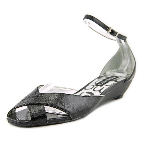 Maria Mare 3186 Women  Open Toe Synthetic Black Wedge Sandal