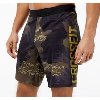 Reebok NEW Green Mens Size 2XL Printed Cross Fit Athletic Shorts