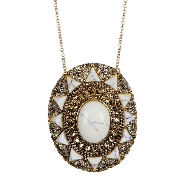 House of Harlow by Nicole Richie Womens Wari Ruins Pendant Necklace Fashion