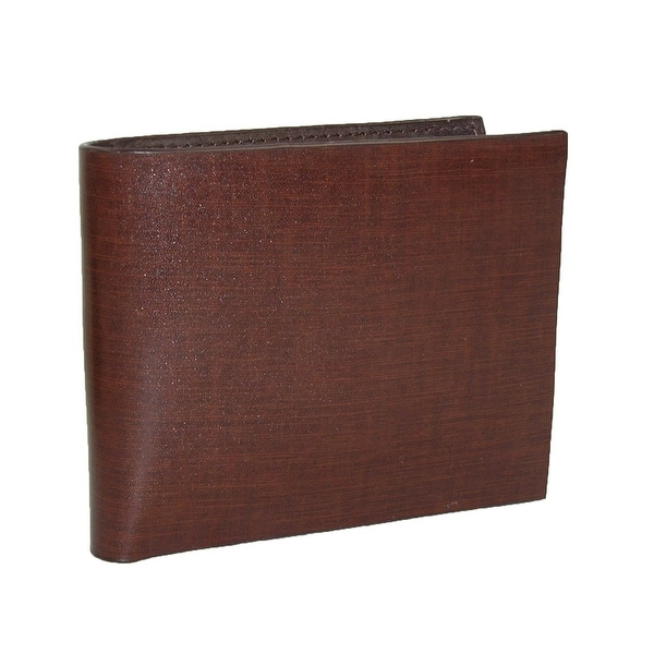 CTM® Men's Italian Leather Non-Stitch Bilfold Wallet - One size