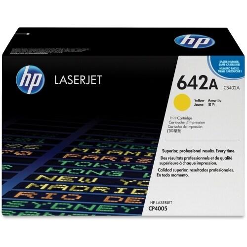 HP 642A Yellow Original LaserJet Toner Cartridge (CB402A)(Single Pack)