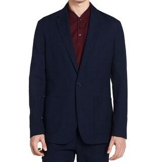 Calvin Klein NEW Navy Blue Men's XL One Button Cadet Speckle Blazer