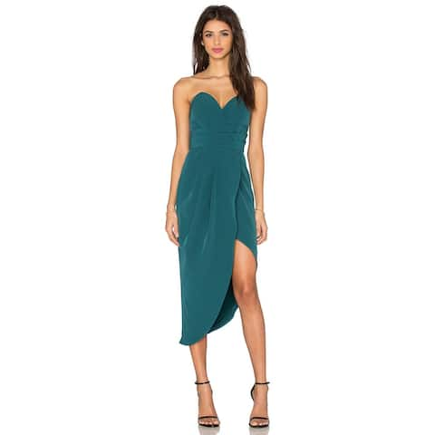 Lovers+Friends X Revolve Riviera Strapless Dress, Turquoise, X-Small
