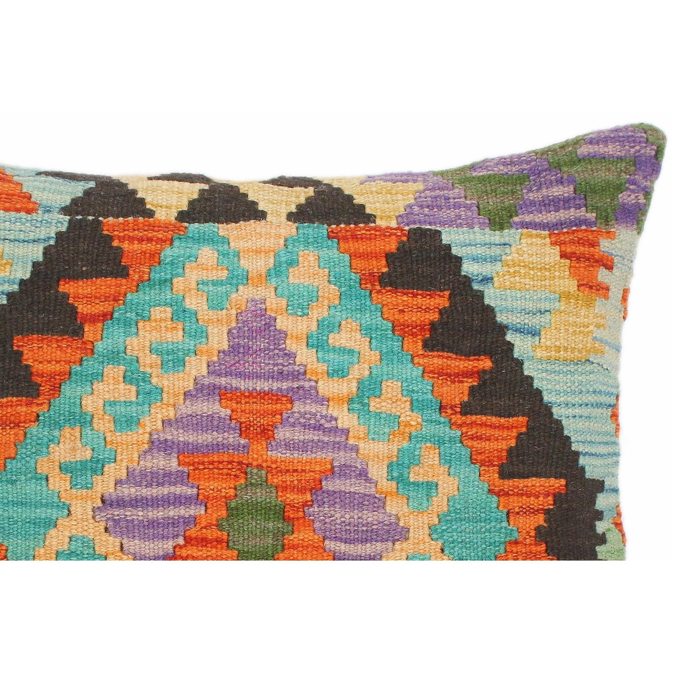 Tribal Everette Hand Woven Turkish Kilim Throw Pillow 18 In X 18 In On Sale Overstock 32524913