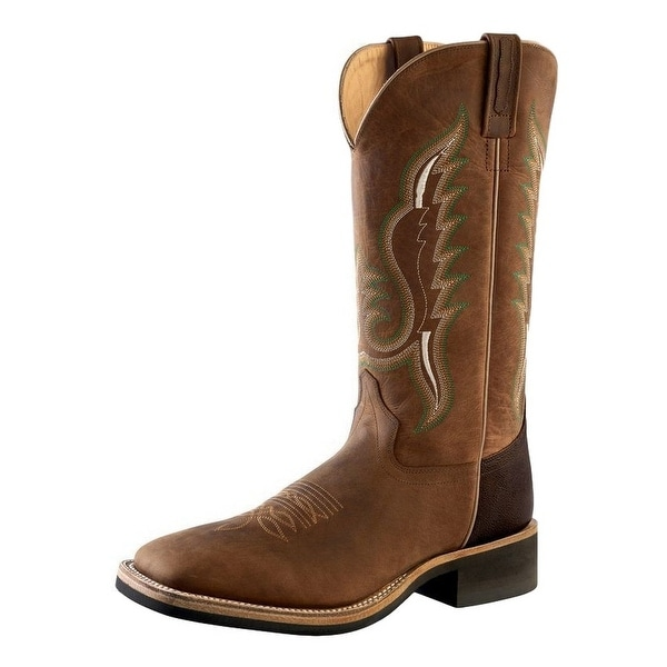 Old West Cowboy Boots Mens Stitching Leather Brown Truffle