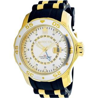 Invicta Men's Pro Diver 6995 Gold Rubber Quartz Dress Watch