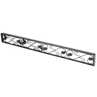 U.S. Patrol Patio Door Security Bar - Adjustable Security Device for Use in Track of Sliding Glass Doors - Decorative