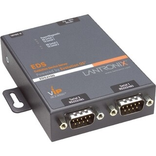 """""""Lantronix ED2100002-01 Lantronix 2-Port Secure Serial (RS232/ RS422/ RS485) to IP Ethernet Device Server; Up to 256-bit AES"""