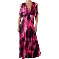 Funfash Plus Size Pink Black Cold Open Shoulder Dress New Made in USA