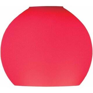 """Volume Lighting GS-444 3.25"""" Height Red Glass Globe Shade"""