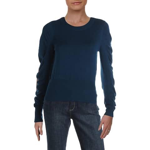 Vero Moda Womens Pullover Sweater Knit Ribbed Trim - Gibraltar Sea - XS