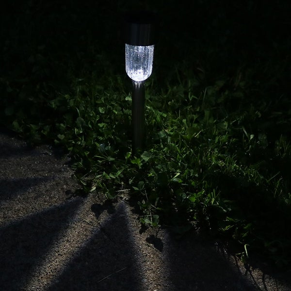 Sunnydaze Set of 6 Outdoor Solar Garden Path LED Landscape Lights Patio u0026&; ... : path led landscape lighting - azcodes.com