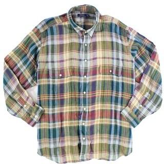 Polo Ralph Lauren NEW Red Blue Mens Size 3XLT Plaid Button Down Shirt
