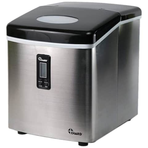 Chard IM-12SS Freestanding Ice Maker with LCD Display, 35 lb Per Day, Stainless Steel