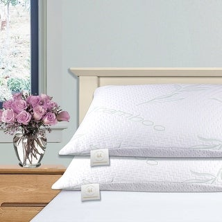 Link to Home Sweet Home Hypoallergenic Memory-Foam Rayon from Bamboo Pillow Similar Items in Pillows
