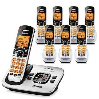 "Refurbished ""Uniden D1780-8 DECT 6.0 Cordless Phone w/ 7 Extra Handsets"""