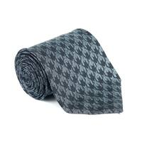 Tom Ford Black Geometric Pattern Silk Blend 4 Inch Wide Ties - One Size