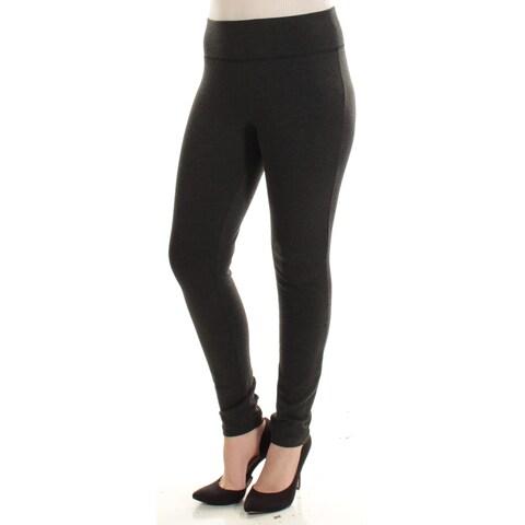 Womens Gray Casual Leggings Size 8