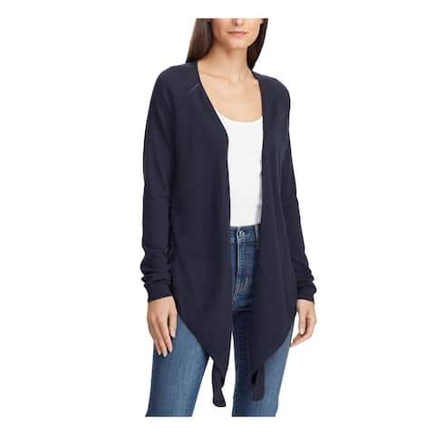 RALPH LAUREN Womens Navy Long Sleeve Open Cardigan Sweater Size M