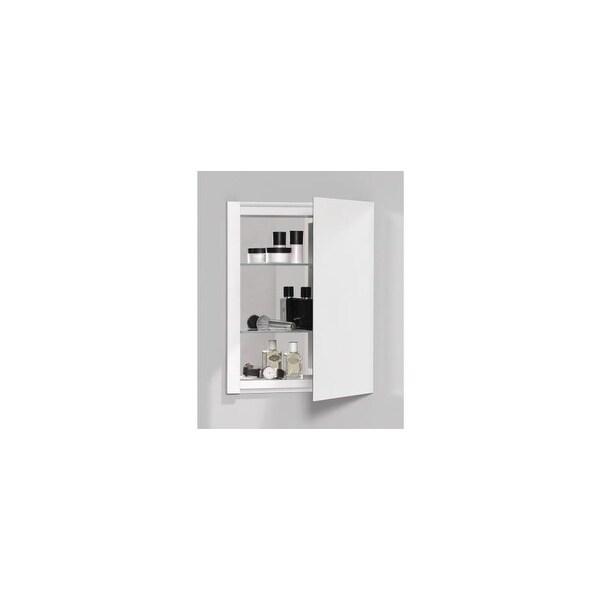 "Robern RC1620D4FP1 R3 16"" x 20"" x 4"" Plain Single Door Medicine Cabinet with Reversible Hinge - N/A"