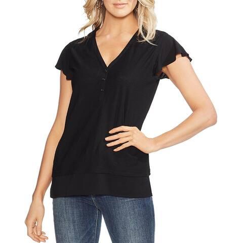 Vince Camuto Womens T-Shirt Cotton Slub