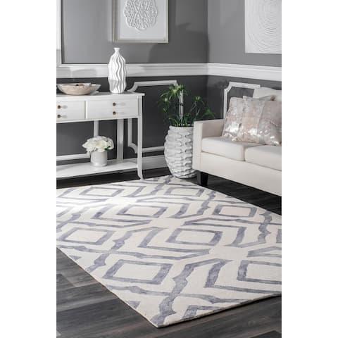 nuLOOM Contemporary Handmade Abstract Wool Rug