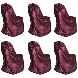 vidaXL 6 pcs Burgundy Chair Cover for Wedding Banquet
