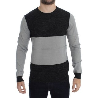 Costume National Costume National Gray Crewneck Wool Sweater