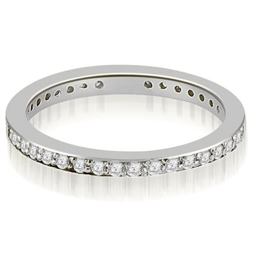 1.15 cttw. 14K White Gold Round Diamond Eternity Ring