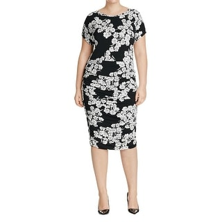 Vince Camuto Womens Casual Dress Floral Printed Sheath