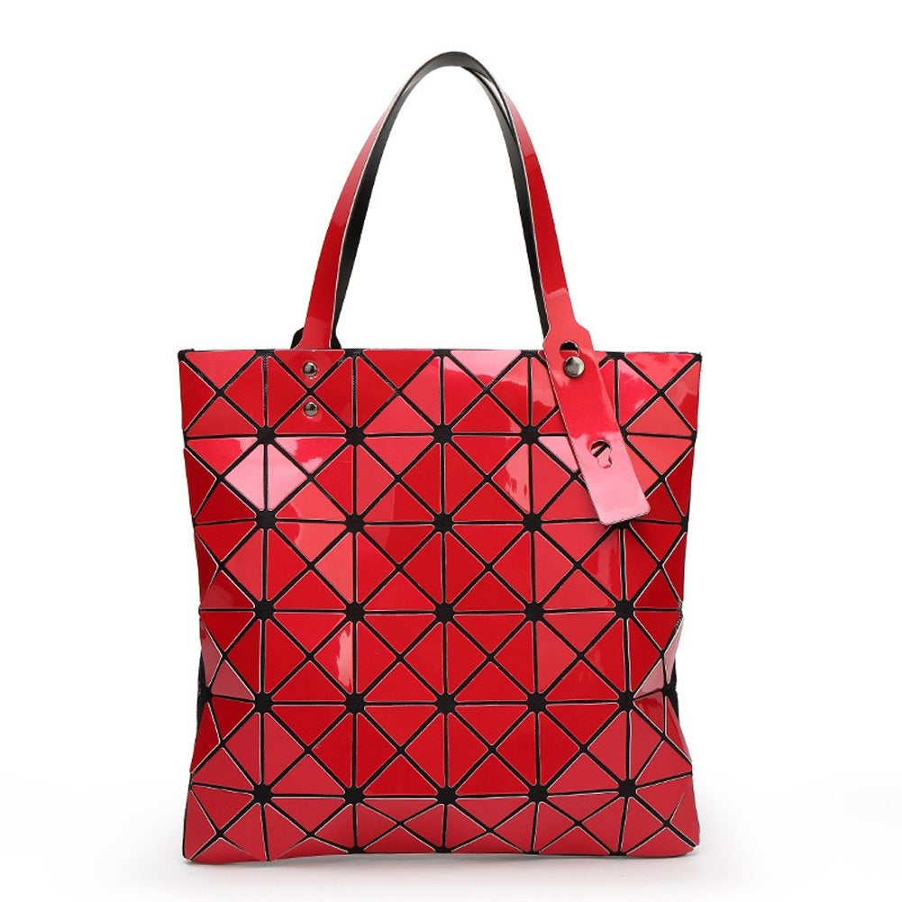 Jelly Color Handbag Laser Tote Bag