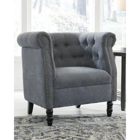 Jacquelyne Slate Blue Accent Chair