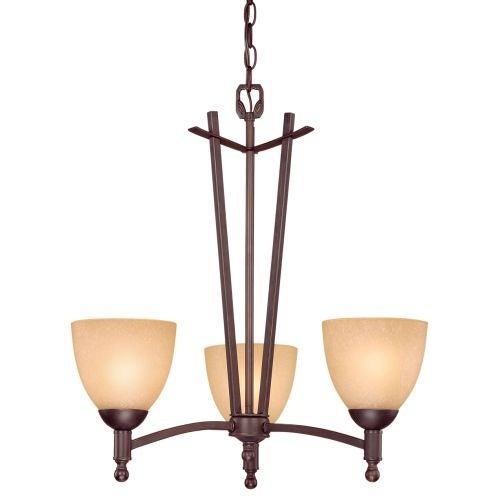 Millennium Lighting 6523 Racine 3 Light Single Tier Chandelier