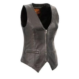 Ladies Lightweight Zipper Front Side Stretch Vest