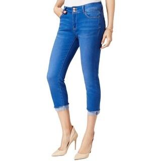 Nanette Lepore Womens Madison Capri Jeans Skinny Fit Denim