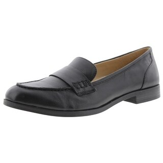 Naturalizer Womens Veronica Loafers Leather Round Toe (Option: Extra Wide)