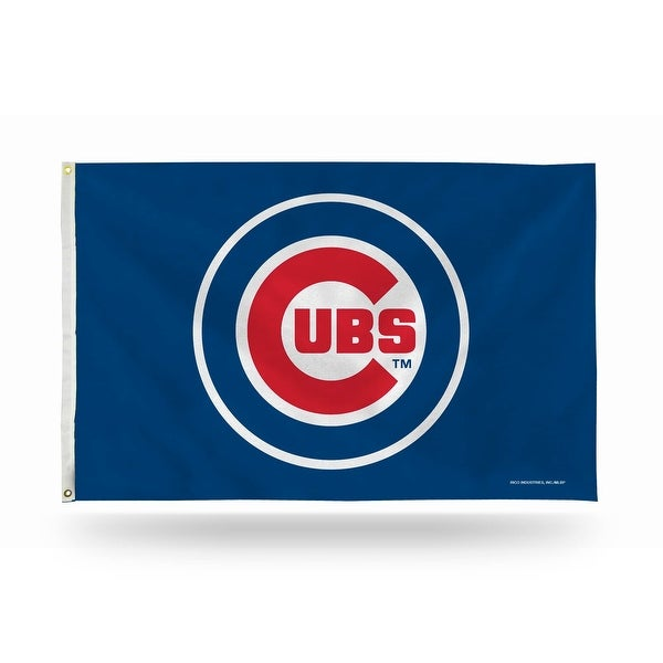 3' x 5' Red and Blue MLB Chicago Cubs Large Banner Flag - N/A