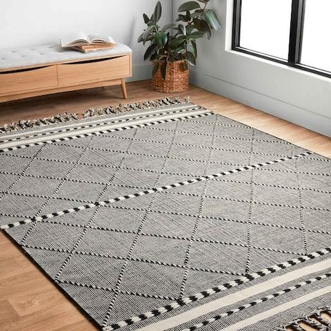 Alexander Home Isaiah Global Hand Loomed Geometric Wool Rug